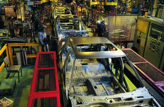 The modern assembly line often features computer controls or robots.