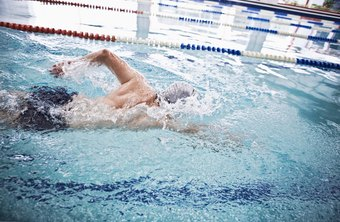 Swimming laps is a good low impact exercise for men as they get older.