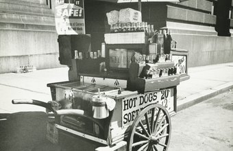 Hot dog carts could have a limited number of products.