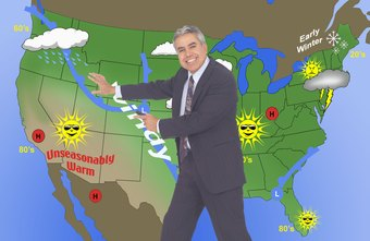 TV meterologists use colorful maps to explain the weather.