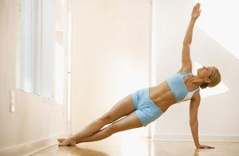 Side plank can tighten your arms without additional exercise gear.