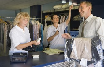 Dry-cleaning workers clean and service apparel for customers.