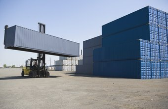 Intermodal shipping containers can move from truck to rail to ship transport.