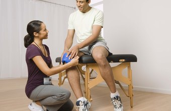 Physical therapists can help with leg injuries.