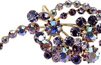 Costume jewelry made of semi-precious or imitation materials is sought by collectors and fashionistas.