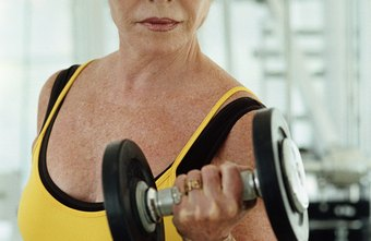 Dumbbells and barbells provide an effective workout.