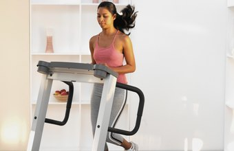 A brisk treadmill run burns calories quickly.