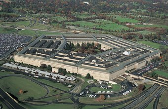 Uniformed military personnel from all ranks and services staff the Pentagon.