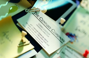 Scanning business cards is a great way to keep your contacts organized.