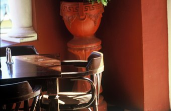 Part of Feng Shui in restaurant design includes a live plant at the entrance.