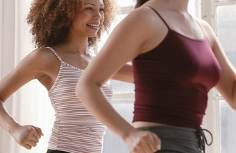Aerobic dance classes take place at health clubs, gyms, rec centers and many other locations.