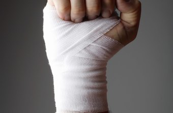 An elastic wrap can help control swelling after a hand injury.