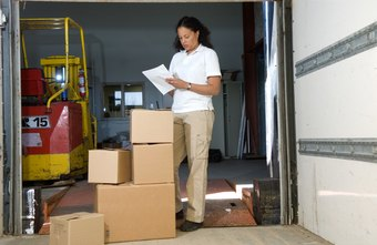 Employees validate inventory receipt at the delivery point.