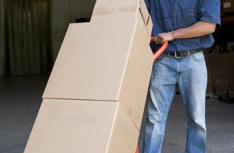 Transport boxes safely by using a hand truck.