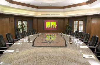 The costs of business for large companies sometimes leads to empty boardrooms.