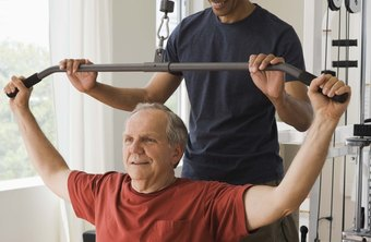 Personal trainers may specialize in elderly clients.