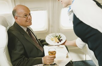 Flight attendants are responsible for the comfort and safety of airplane passengers.