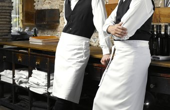 A lead waiter acts as liaison between the staff and management.