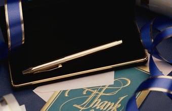 Sending a 'thank-you' card or letter is considered appropriate business etiquette.