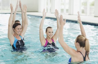 Water aerobics burns calories while protecting your joints.