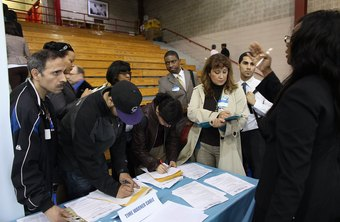 Job fairs often attract large numbers of job seekers.