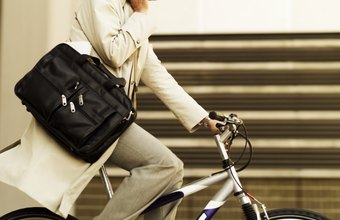 Biking to work can help keep your stress levels in check.
