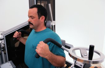 Perform back exercises on weight machines to strengthen muscles that protect the spine.