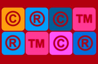 Copyright and trademark owners often place the corresponding symbols on their work.