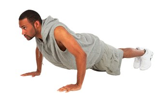 You use your body-weight to execute pushups.