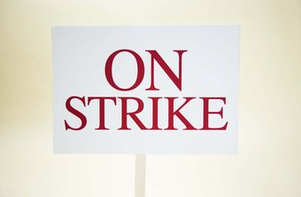 Strikes and work slowdowns are union campaign strategies.