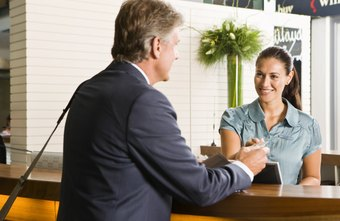 A front desk receptionist is the face of the company.
