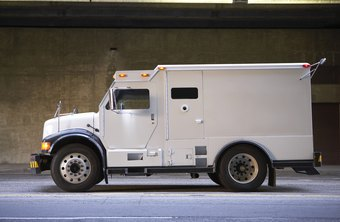 Armored trucks are designed to protect guards and valuables.