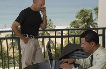 A VPN streamlines office network access during a working vacation.