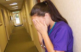 Many nurses are stressed by the demands of the job.