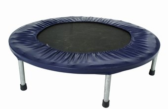 A mini trampoline gives low-impact aerobic exercise.