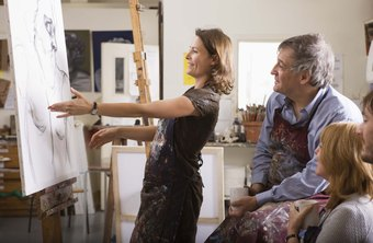 Art professors may instruct post-secondary students in applied art techniques.