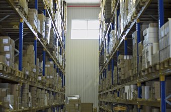 A warehouse inventory clerk keeps inventory and records orderly.
