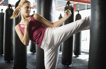 Kickboxing's uptempo natures makes it an effective way to burn calories.