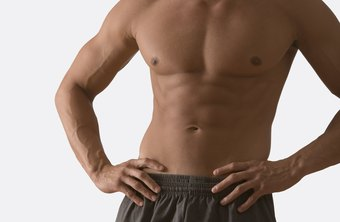 Contracting your stomach muscles helps create defined abs.