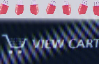 Virtual shopping carts help your customers order merchandise.