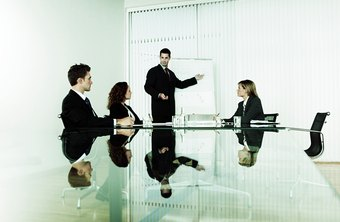 Organizational consultants advise clients on improving business performance.