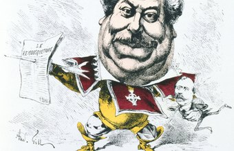 Cartoonists produce work such as this caricature of Alexander Dumas.