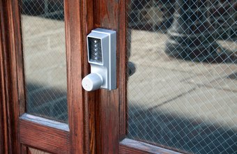 Keypad locks require a specific code to unlock the door.