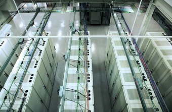 Servers at data centers are part of the physical infrastructure of the Internet.