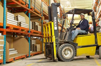Forklift drivers handle the lifts that move and stack warehouse materials.