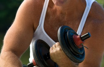 Dumbbell curls can help you build strong upper arms.