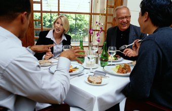 Treating your customers to lunch will help ensure their loyalty.