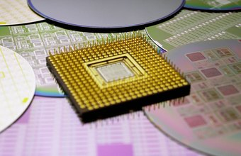 A computer's CPU contains millions of transistors and other electronic devices.