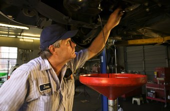 An oil change is a basic and often-repeated car service.
