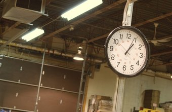 Manufacturing plants often run three work shifts, including night shifts.